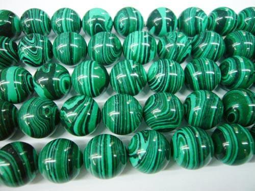 Selling Semi precious stone  malachite stone strands